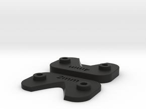 TLR 22 5.0 Rear Wing Spacers  in Black Natural Versatile Plastic