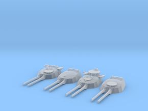 1/600 HMS Twin 15-inch (381 mm) guns SET in Smooth Fine Detail Plastic