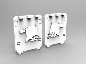 Raptor Small Transport Side Door Set V3 in Smooth Fine Detail Plastic