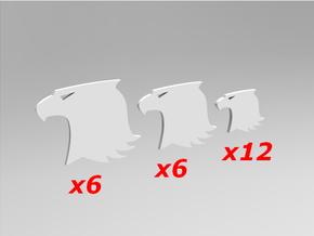 Raptor Symbols V1 Sprue 1.0 in Smooth Fine Detail Plastic