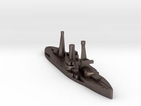 Spanish Jaime I battleship 1920 1:3000 in Polished Bronzed-Silver Steel