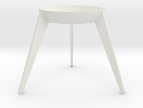 Sputnik - Avocado Seed Seat in White Natural Versatile Plastic