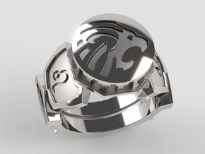 Leo Ring in Polished Silver: 10 / 61.5