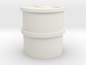 HO Concrete Water Tank in White Natural Versatile Plastic
