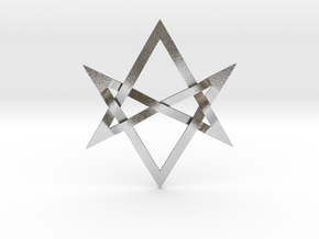 Large Unicursal Hexagram in Natural Silver