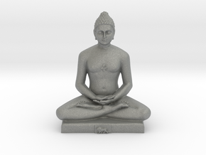 Bhagwan Mahaveer in Gray PA12: Medium