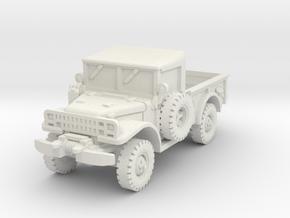 Dodge M37 (open) 1/87 in White Natural Versatile Plastic