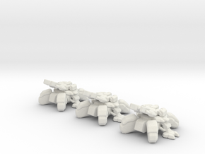 Starcraft Terran Tanks Siege mode 6mm Vehicle Epic in White Natural Versatile Plastic