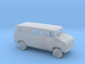 1/87 1979-83  Chevy G Custom Van Split Side D. in Smooth Fine Detail Plastic