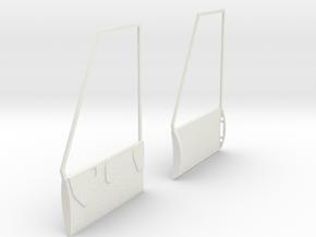 1:7 Bell Door Panels (Vario - Bell 412) in White Natural Versatile Plastic
