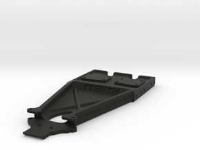 Twin Hammers Diff&Axial Trans Bellypan Brazin 10II in Black Natural Versatile Plastic