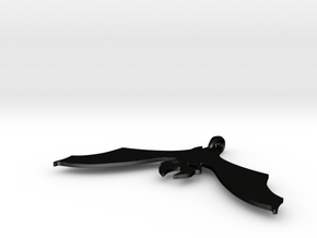 batpendant in Matte Black Steel