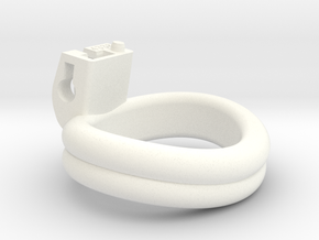 Cherry Keeper Ring - 43x38mm Double (~40.5mm) in White Processed Versatile Plastic