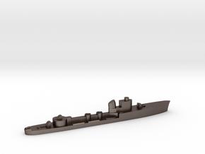 Italian Cigno torpedo boat 1:2400 WW2 in Polished Bronzed-Silver Steel