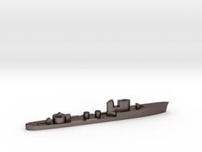Italian Cigno torpedo boat 1:3000 WW2 in Polished Bronzed-Silver Steel