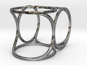 Offset Frame Ring in Polished Silver: 7 / 54
