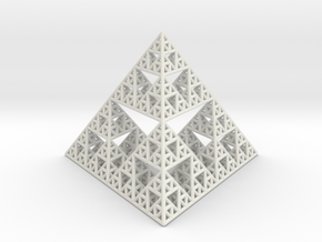 Sierpinski Pyramid in White Natural Versatile Plastic