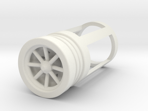 Blade Plug - Fulcrum in White Natural Versatile Plastic