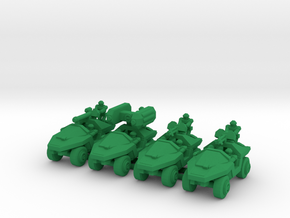 Infantry Support Vehicles V3 in Green Processed Versatile Plastic