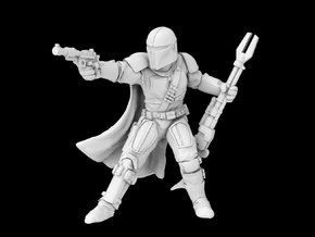 (Legion) The Mandalorian in Smooth Fine Detail Plastic