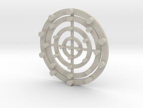 Target Coaster in Natural Sandstone