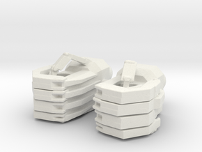 custom hands for Movie Landmine in White Natural Versatile Plastic