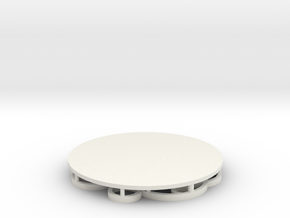 Circles Coaster in White Natural Versatile Plastic