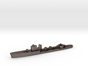 Italian Circe torpedo boat 1:1800 WW2 in Polished Bronzed-Silver Steel