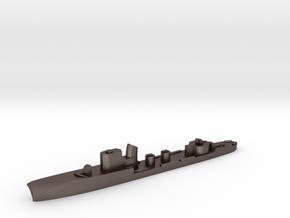 Italian Circe torpedo boat 1:3000 WW2 in Polished Bronzed-Silver Steel