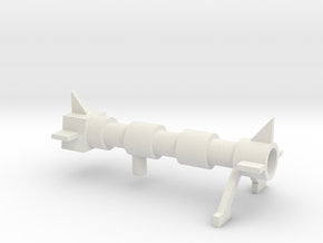 Cliffjumper Cannon in White Natural Versatile Plastic: Large