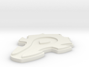 WoW Horde Keychain  in White Natural Versatile Plastic