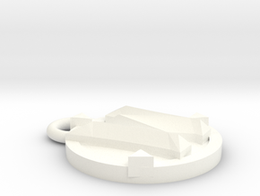 WoW Keychain  in White Processed Versatile Plastic