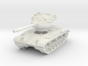 M47 Patton 1/76 in White Natural Versatile Plastic
