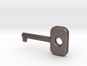 Cuff Key in Polished Bronzed Silver Steel