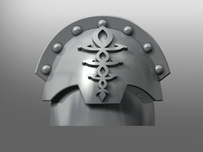Honoris pattern shoulder pads: Eldritch Guardians in Smooth Fine Detail Plastic: Small