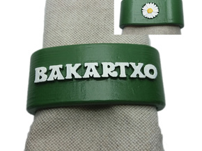 BAKARTXO napkin ring with daisy in White Natural Versatile Plastic