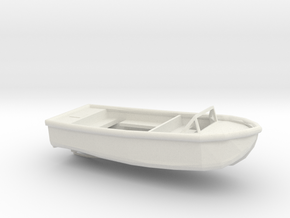 1/48 Scale 24 ft Plane Personnel Boat Mk5 USN in White Natural Versatile Plastic