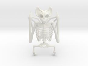 Bat Skeleton Napkin Ring in White Natural Versatile Plastic