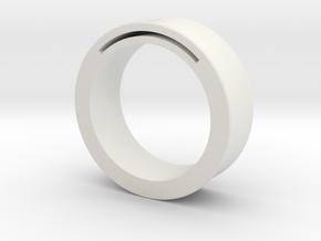 simpleband_nfc_rfid_ring9.5 in White Natural Versatile Plastic