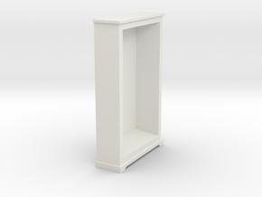 1/56th (28mm) Book shelf frame (01) in White Natural Versatile Plastic