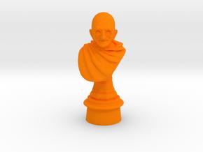 Ivory Gandhi v1 in Orange Processed Versatile Plastic: Medium