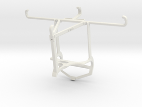 Controller mount for PS4 & Realme XT - Top in White Natural Versatile Plastic