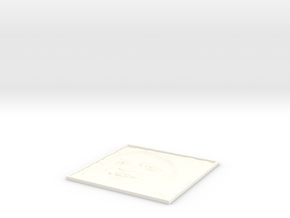 Carl Sagan Square Lithopane in White Processed Versatile Plastic