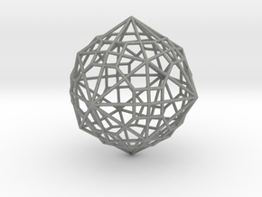 0495 Truncated Cuboctahedron + Dual in Gray PA12