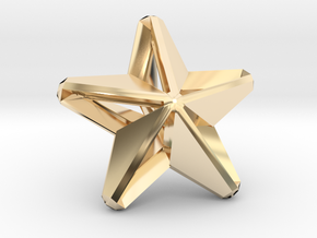 Five pointed star earring assemble - Small 1.5cm in 14k Gold Plated Brass