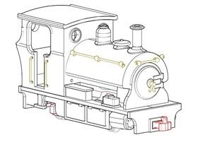 009 Peckett Style Tram Engine  in White Natural Versatile Plastic