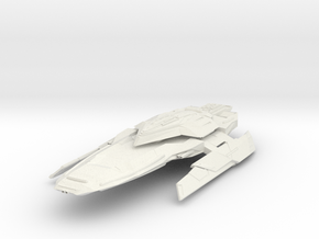 """Federation Strike Class  StrikeDestroyer 4.7"""" long in White Natural Versatile Plastic"""