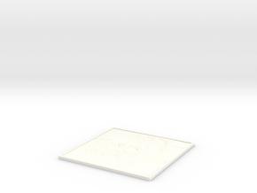 Galileo Galilei V2 Lithopane  in White Processed Versatile Plastic