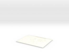 Hawking Square lithophane in White Processed Versatile Plastic