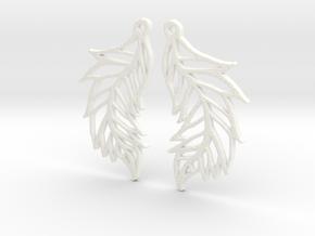 :Featherflight: Earrings in White Processed Versatile Plastic